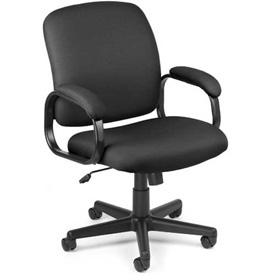 OFM Office Chair - Fabric - Low Back - Black