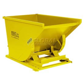 Wright 2577 1/4 Cu Yd Yellow Heavy Duty Self Dumping Forklift Hopper