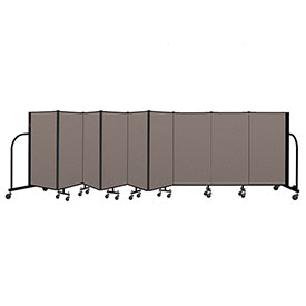 "Screenflex Portable Room Divider 9 Panel, 4'H x 16'9""L, Fabric Color: Oatmeal"