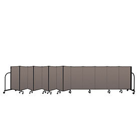 "Screenflex Portable Room Divider 13 Panel, 4'H x 24'1""L, Fabric Color: Oatmeal"