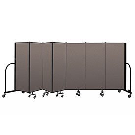 "Screenflex Portable Room Divider 7 Panel, 5'H x 13'1""L, Fabric Color: Oatmeal"