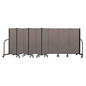 "Screenflex Portable Room Divider 9 Panel, 5'H x 16'9""L, Fabric Color: Oatmeal"