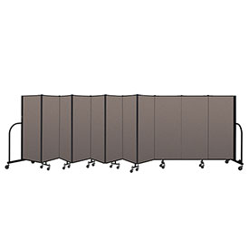 "Screenflex Portable Room Divider 11 Panel, 5'H x 20'5""L, Fabric Color: Oatmeal"