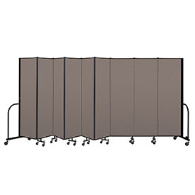 "Screenflex Portable Room Divider 9 Panel, 6'8""H x 16'9""L, Fabric Color: Oatmeal"