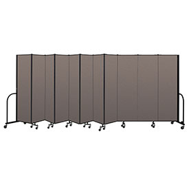 "Screenflex Portable Room Divider 11 Panel, 6'8""H x 20'5""L, Fabric Color: Oatmeal"