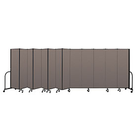 "Screenflex Portable Room Divider 13 Panel, 6'8""H x 24'1""L, Fabric Color: Oatmeal"