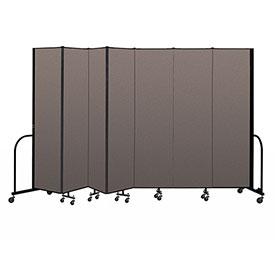 "Screenflex Portable Room Divider 7 Panel, 7'4""H x 13'1""L, Fabric Color: Oatmeal"