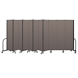 "Screenflex Portable Room Divider 11 Panel, 7'4""H x 20'5""L, Fabric Color: Oatmeal"