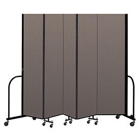 "Screenflex Portable Room Divider 5 Panel, 8'H x 9'5""L, Fabric Color: Oatmeal"