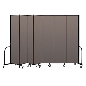 "Screenflex Portable Room Divider 7 Panel, 8'H x 13'1""L, Fabric Color: Oatmeal"