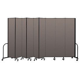 "Screenflex Portable Room Divider 9 Panel, 8'H x 16'9""L, Fabric Color: Oatmeal"
