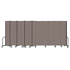 "Screenflex Portable Room Divider 13 Panel, 8'H x 24'1""L, Fabric Color: Oatmeal"