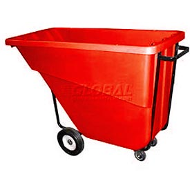 Bayhead Products Red Medium Duty 5/8 Cubic Yard Tilt Truck 1000 Lb. Capacity