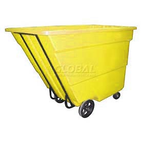 Bayhead Products Yellow Medium Duty 1.7 Cubic Yard Tilt Truck 1700 Lb. Capacity