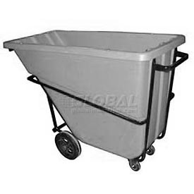 Bayhead Products Gray Heavy Duty 5/8 Cubic Yard Tilt Truck 1500 Lb. Capacity