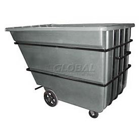 Bayhead Products Gray Heavy Duty 2.2 Cubic Yard Tilt Truck 2500 Lb. Capacity