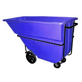 Bayhead Products Blue Heavy Duty 1.1 Cubic Yard Tilt Truck 2100 Lb. Capacity
