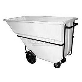 Bayhead Products White Heavy Duty 1.1 Cubic Yard Tilt Truck 2100 Lb. Capacity