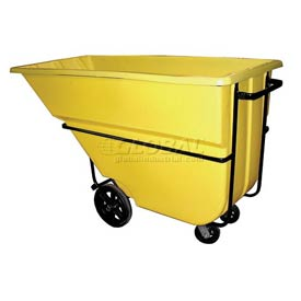 Bayhead Products Yellow Heavy Duty 1.1 Cubic Yard Tilt Truck 2100 Lb. Capacity