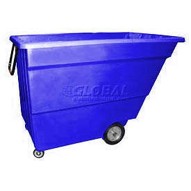 Bayhead Products Blue Light Duty 1.7 Cubic Yard Tilt Truck 1000 Lb. Capacity