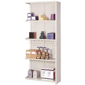 "Lyon Steel Shelving 20 Gauge 48""W x 24""D x 84""H Closed Clip Style 5 Shelf Py Add-On"