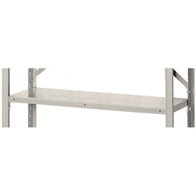 "36"" x 18"" Putty Shelving Clip Style Accessory Shelf With Clips"