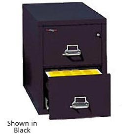 """Fireking Fireproof 2 Drawer Vertical File Cabinet - Letter Size 18""""W x 31-1/2""""D x 28""""H - Sand"""