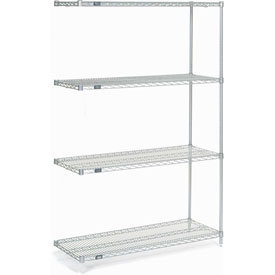 "Nexel Poly-Z-Brite Wire Shelving Add-On 48""W X 18""D X 74""H"