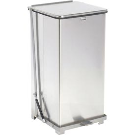 Fire Safe Silent Step On Metal Trash Cans, 24 Gallon