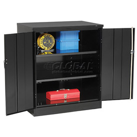 Tennsco Counter Height Industrial Storage Cabinet 1842 03 - 36x18x42 Black