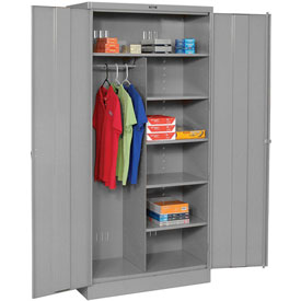 Tennsco Combination Industrial Storage Cabinet 2472 02 - 36x24x78 Medium Grey