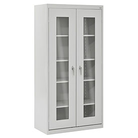 Sandusky Clear View Storage Cabinet CA4V361872 -36x18x72, Light Gray