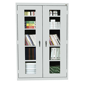 Sandusky Clear View Storage Cabinet EA4V461872 - 46x18x72, Light Gray