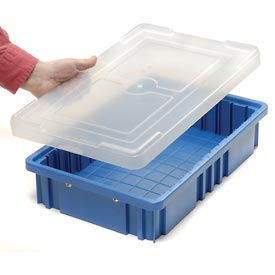 """Lid COV92000CLEAR for Plastic Dividable Grid Container, 16-1/2""""L x 10-7/8""""W, Clear - Pkg Qty 4"""