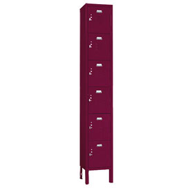 Penco 6365V-1-736KD VanGuard Locker Six Tier 12x12x12 6 Doors Ready To Assemble Burgundy