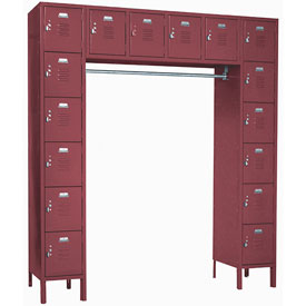 Penco 6579V-736KD VanGuard Locker 16 Person 72x18x72 16 Doors Ready To Assemble Burgundy