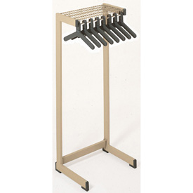 "48""W Floor Rack With 16 Hangers - Tan"