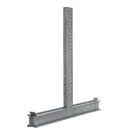 "Cantilever Rack Double Sided Upright, 59"" D x 14' H, 24600 Lbs Capacity"