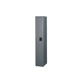 Tennsco Steel Locker STK-121272-A 02 - Single Tier w/o Legs 1 Wide 12x12x72 Unassembled, Medium Grey