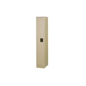 Tennsco Steel Locker STK-121272-A 214 - Single Tier w/o Legs 1 Wide 12x12x72 Unassembled, Sand