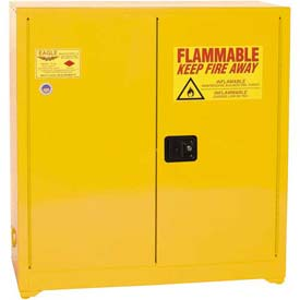 Eagle Paint/Ink Safety Cabinet with Self Close BiFold - 40 Gallon Yellow
