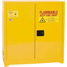 Eagle Paint/Ink Safety Cabinet with Self Close - 40 Gallon Yellow