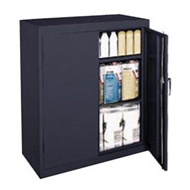 Sandusky Classic Series Counter Height Storage Cabinet CA21361842-09 - 36x18x42 Black