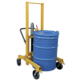Vestil High-Profile Hydraulic Drum Transporter DCR-880-H-HP 880 Lb. Capacity