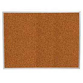 "Balt® Splash Cork Tackboard Aluminum Frame 48""W x 36""H Red"