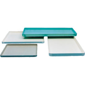 "Molded Fiberglass Conveyor/Assembly Tray 304001 -20-3/8""L x15-1/8""Wx1""H, Pkg Qty 1-11,12+,Green"