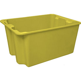 """Molded Fiberglass Toteline Nest and Stack Tote 780708 - 27-1'2"""" x 20"""" x 14-1/8"""", Pkg Qty 5, Yellow - Pkg Qty 5"""