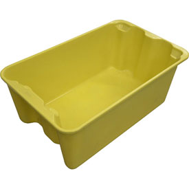 "Molded Fiberglass Toteline Nest and Stack Tote 780408 - 20-1/2"" x 12-7/8"" x 8"", Pkg Qty 10, Yellow - Pkg Qty 10"