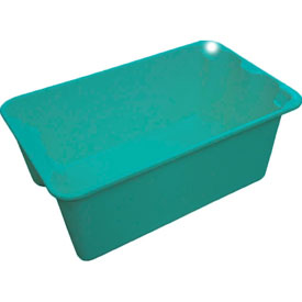 "Molded Fiberglass Toteline Nest and Stack Tote 780408 - 20-1/2"" x 12-7/8"" x 8"", Pkg Qty 10, Green - Pkg Qty 10"