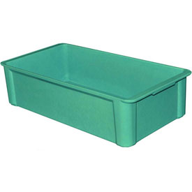 "Molded Fiberglass Toteline Stacking Tote 808308 - 22-3/8""L x 12""W x 6""H, Green"